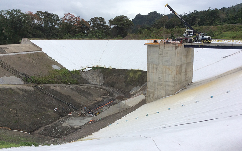 Cofferdam in Torito's hydroelectric power plant, Costa Rica