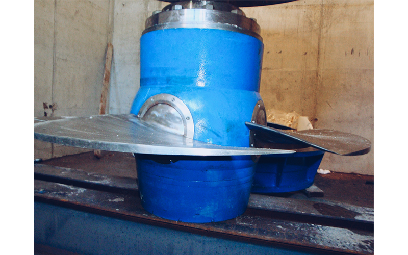 Wheel turbine construction for Kaplan turbine