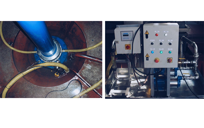 Guide bearing change for water lubrication system